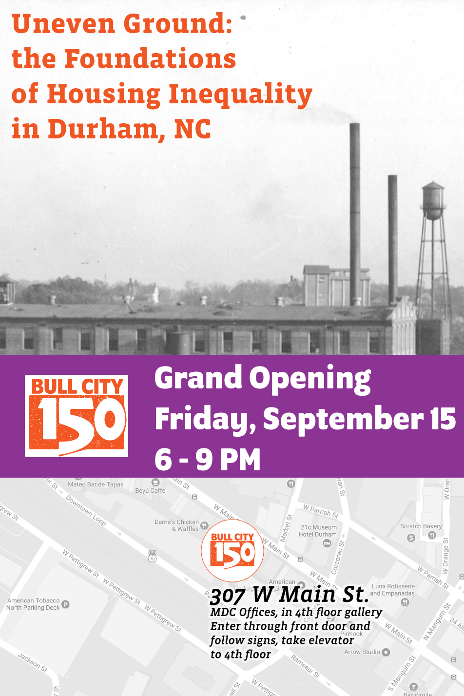 Opening Celebration for Uneven Ground: The Foundations of Housing Inequality in Durham, NC