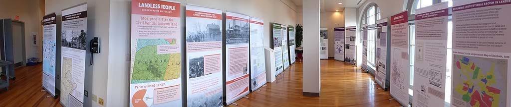 Panorama photo of Uneven Ground exhibit